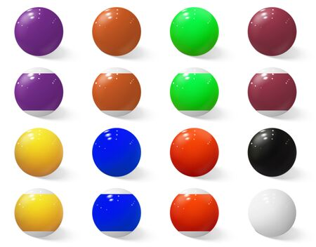 Billiard, pool or snooker balls without numbers.