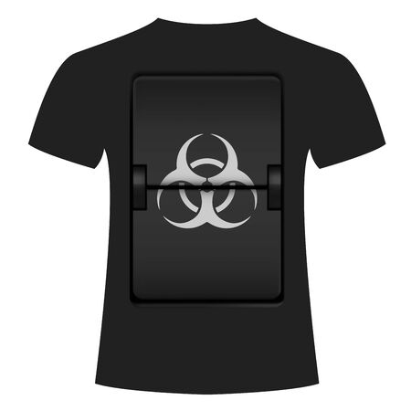 T-shirt design dedicated to coronavirus, quarantine and biohazard Ilustrace