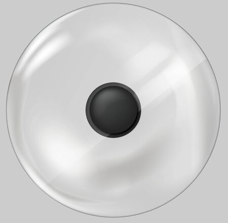 Classic round lid with plastic handle for dishes Vettoriali