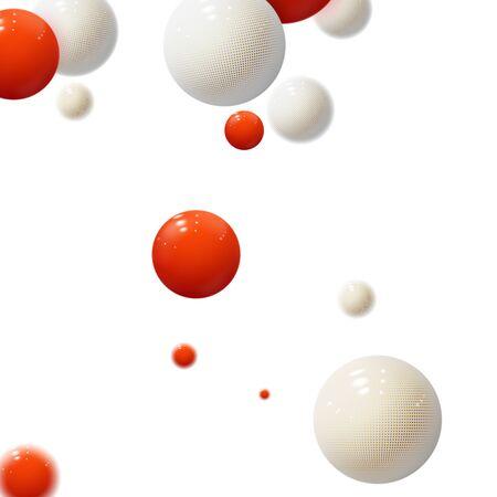 Realistic soft spheres. Plastic bubbles. Glossy balls