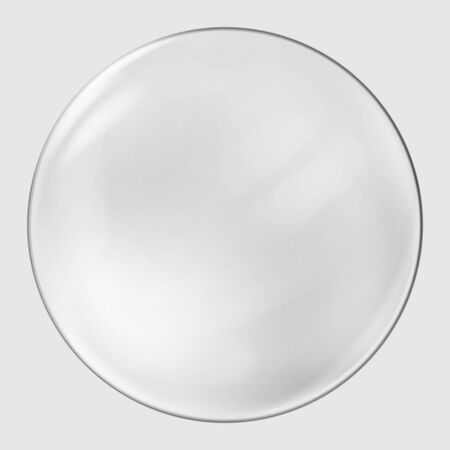 Realistic glass sphere. Transparent ball, realistic bubble. Vector. 일러스트