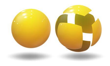High tech sphere, ball. Industrial bubble.
