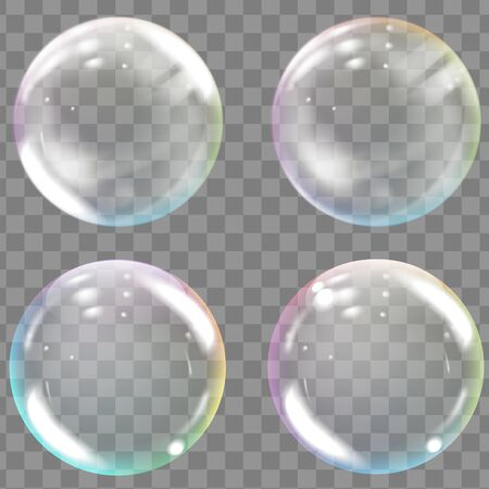 Transparent colored soap or water bubbles. 일러스트