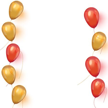 Sale banner with pink and gold floating balloons. 일러스트