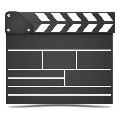 Realistic Movie clapper board. Vector.