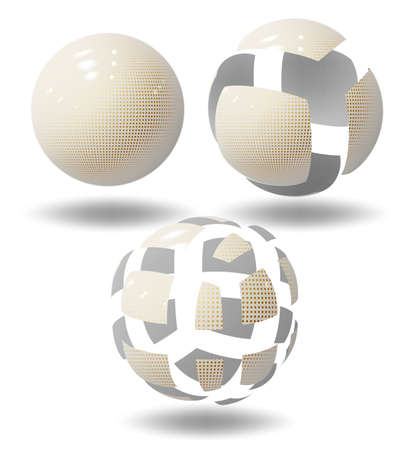 High tech ball or sphere, plastic bubbles