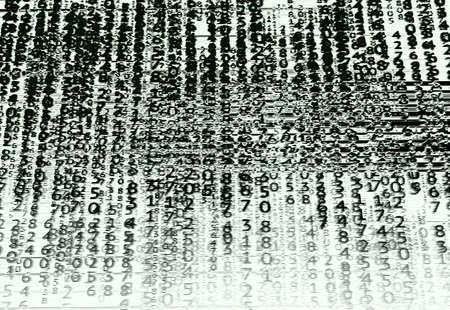 Matrix background with glitch effect.