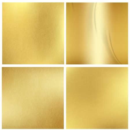 Set of golden blurred backgrounds