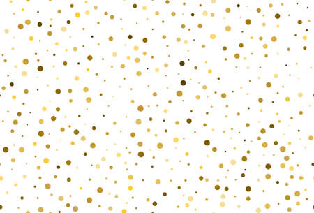 Seamless pattern with gold polka dot confetti