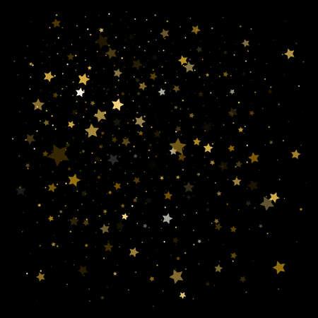 Gold stars. Confetti celebration, vector illustration Illustration
