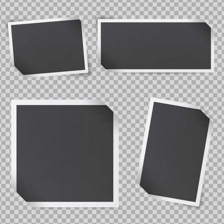 Mockup of frames in retro style. Black photo frames.