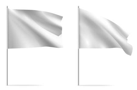 White clean horizontal waving template flag.