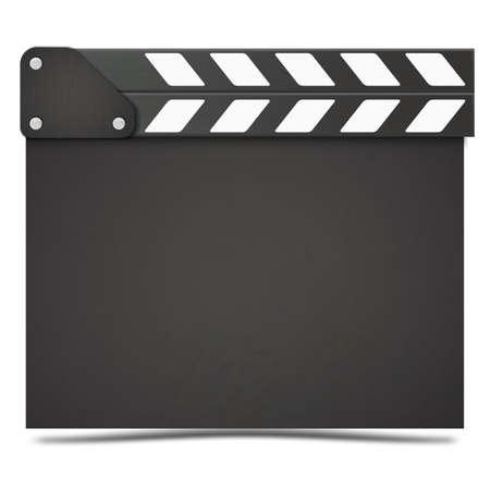 Realistic Movie clapper board. Vector. Vektorové ilustrace