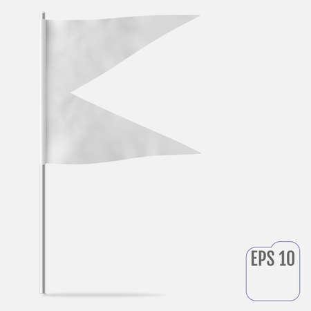 Dovetail or Swallowtail Horizontal Mockup Flag.