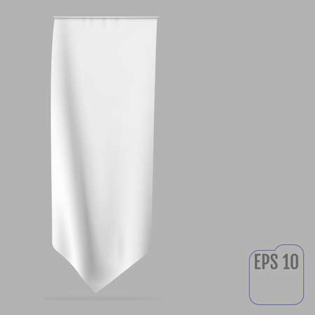 Blank white long mockup pennant flag Stock fotó - 155374799