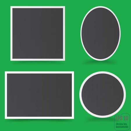 Empty photo frame. Vector illustration.