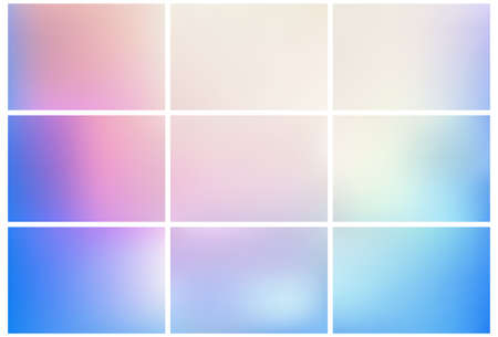 Collection of simple colored gradient mesh backgrounds.