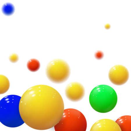 Soft spheres. Plastic bubbles. Glossy balls