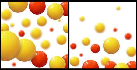 Plastic bubbles, spheres. Glossy balls. Vector Set 版權商用圖片 - 157041828