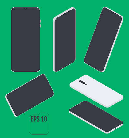 Modern Isometric smart phone. Vector