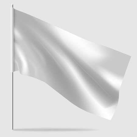 Mockups of white flag. Vector