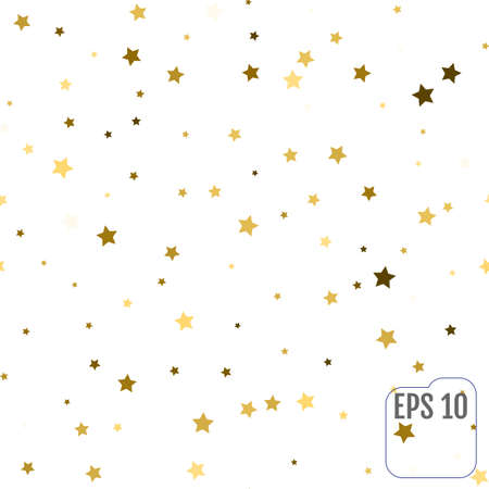 Seamless pattern with gold stars