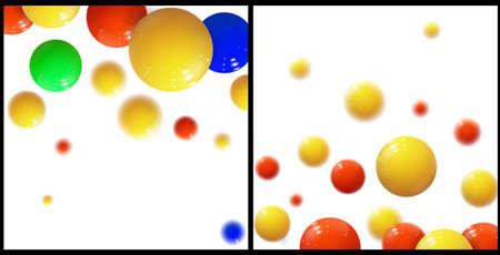 Plastic bubbles, spheres. Glossy balls. Vector Set