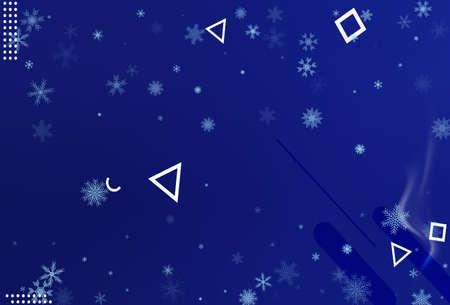 Winter christmas snowflake background.