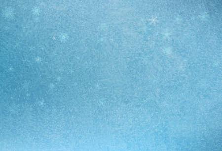 Frozen window Christmas background. Vector 版權商用圖片