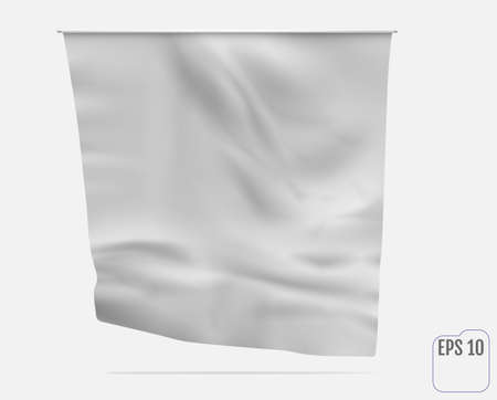 Pennant, banner or flag. White realistic mockup
