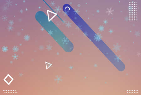 Winter christmas snowflake background. Vector. Illusztráció