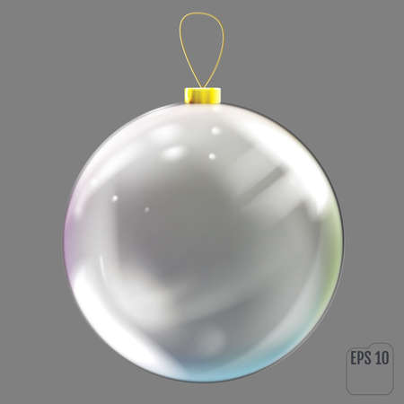 Transparent Christmas tree toy with colored reflections