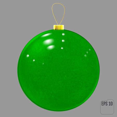 Green Textured Christmas ball decoration. 向量圖像