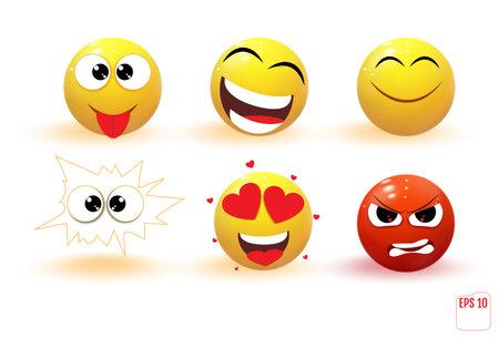 Emoji. Trendy Communication Chat Elements  イラスト・ベクター素材