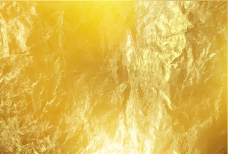 Gold foil texture. Golden background Ilustrace