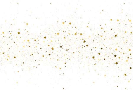 Light gold glitter confetti background. Иллюстрация