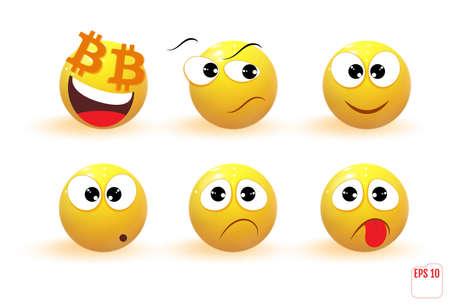 Emoji icon set. Vector illustration