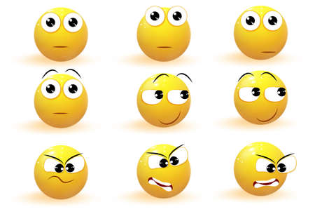 Emoji. Emotion icons vector collection Vektoros illusztráció