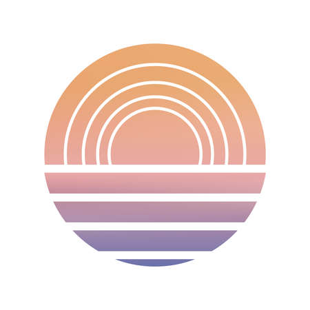 Design of Sunset striped backdrop.