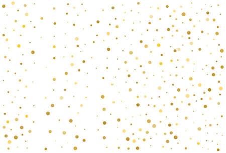 Gold glitter classic circle confetti background. Illustration