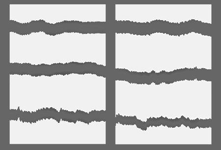 White ripped blank horizontal stripes Illustration