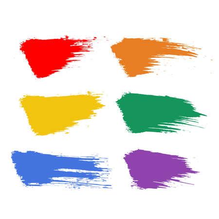 Grunge pride LGBT templates. Vector brush strokes. Illustration