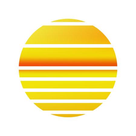 Design of Sunset striped wallpaper.