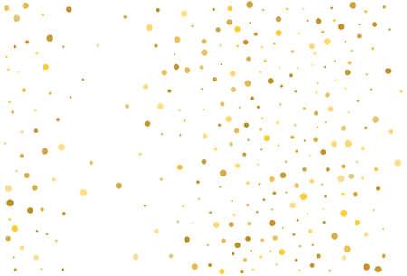 Gold glitter background polka dots confetti