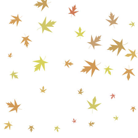 Autumn maple confetti. Simple autumn background