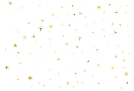 Gold stars on white background.