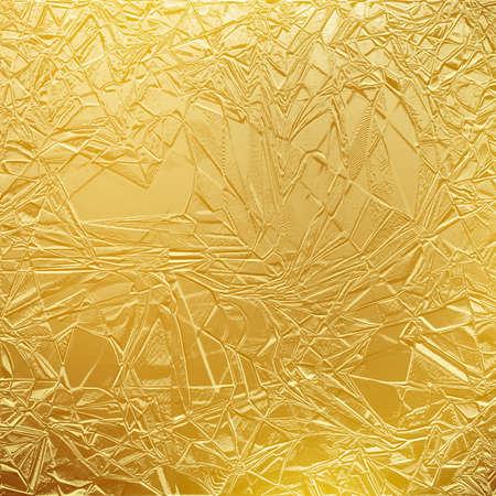 Shiny gold texture paper or metal. Golden foil