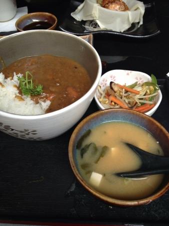 chicken curry: H�hnchencurry vom japanischen Restaurant Lizenzfreie Bilder