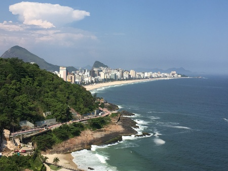 shorelines: IpanemaLeblon, Rio de Janeiro, Brazil Stock Photo