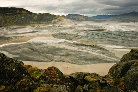 Panoramic of Vatnajokull glacier, Iceland